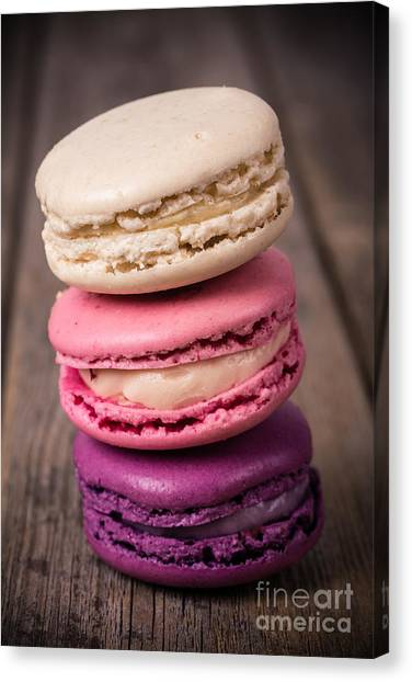 Biscuits Canvas Print - Assorted Macaroons Vintage by Jane Rix