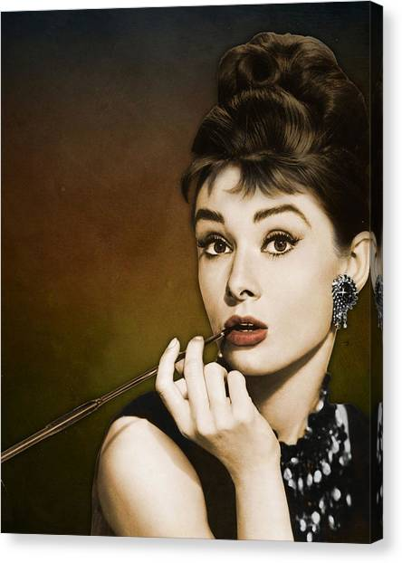 All Star Canvas Print - Audrey Hepburn by Retro Images Archive