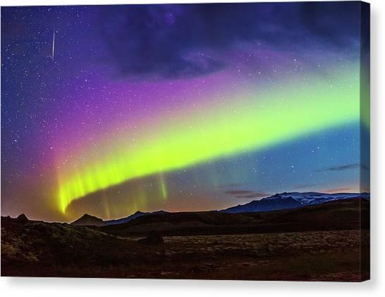 Eyjafjallajokull Canvas Print - Aurora Borealis by Juan Carlos Casado (starryearth.com)