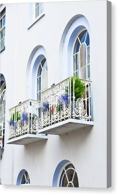 Window Canvas Print - Balconies by Tom Gowanlock