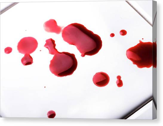 Biohazard Canvas Print - Blood Spatter by Cordelia Molloy