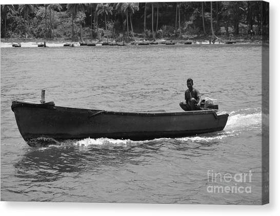 Boat  Canvas Print by Bobby Mandal