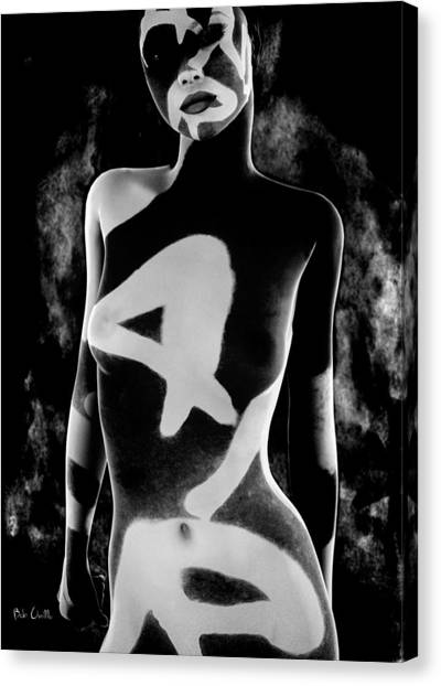 Abstract Nude Canvas Print - 4 by Bob Orsillo