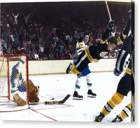 Boston Bruins Canvas Print - Bobby Orr by Retro Images Archive