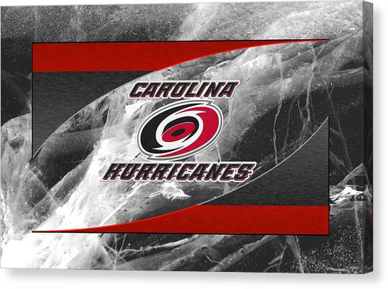 Carolina Hurricanes Canvas Print - Carolina Hurricanes by Joe Hamilton
