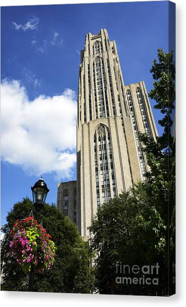 University Of Pittsburgh Canvas Print - Cathedral Of Learning by Thomas R Fletcher