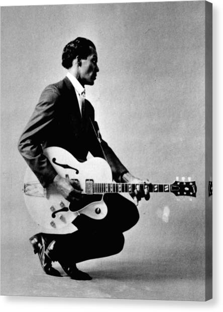 Blue Canvas Print - Chuck Berry by Retro Images Archive