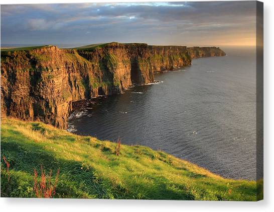 Cliffs Canvas Print - Cliffs Of Moher Sunset Ireland by Pierre Leclerc Photography