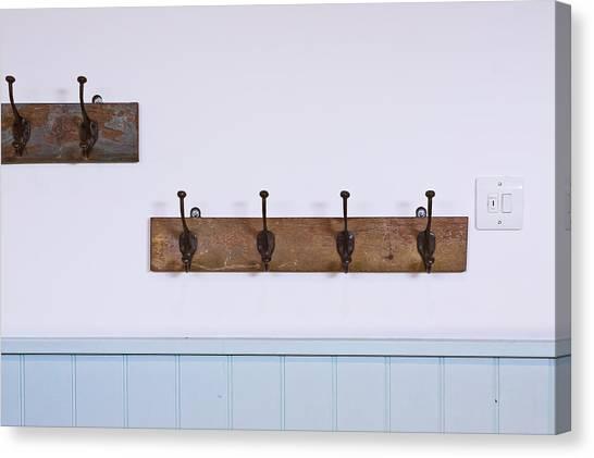 Coat Hanger Canvas Print - Coat Hooks by Tom Gowanlock