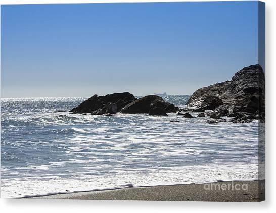 Cornish Seascape Gunwalloe Canvas Print