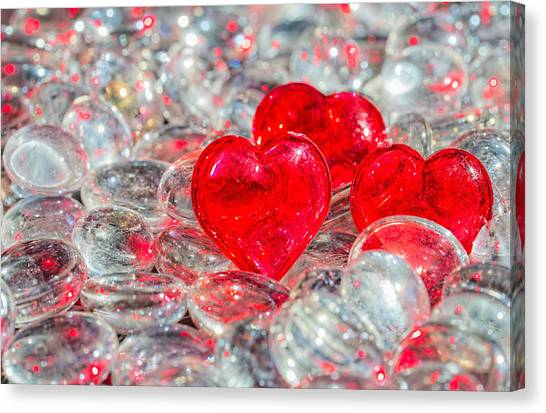 Crystal Heart Canvas Print