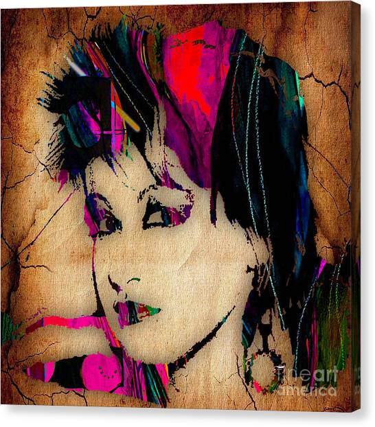 Celebrity Canvas Print - Cyndi Lauper Collection by Marvin Blaine