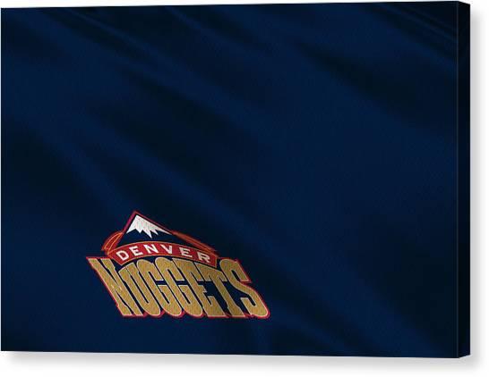 Denver Nuggets Canvas Print - Denver Nuggets Uniform by Joe Hamilton