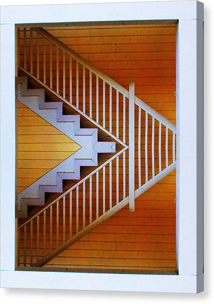 Distorted Stairs Canvas Print