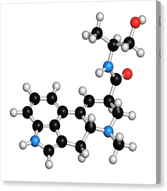 Abortion Canvas Print - Ergometrine Drug Molecule by Molekuul