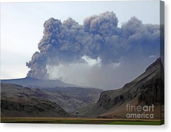 Eyjafjallajokull Canvas Print - Eyjafjallajokull Ash Cloud Iceland by Stephen and Donna O'Meara