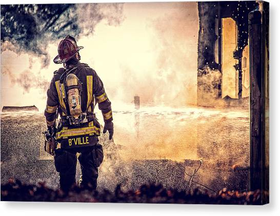 Firefighters Canvas Print - Firefighters by Everet Regal