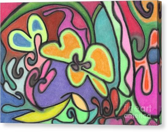 Fluid Flowers Canvas Print
