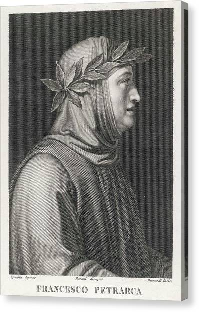 Francesco Petrarch  Italian Poet Canvas Print by Mary Evans Picture Library