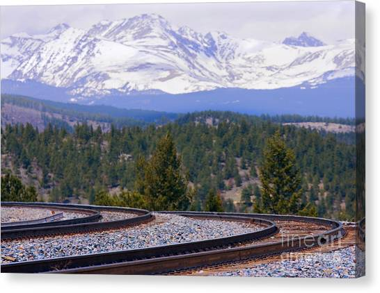 Freight On The Divide Canvas Print
