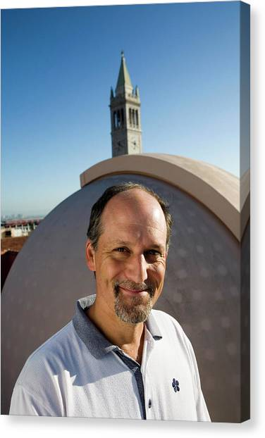 Uc Berkeley Canvas Print - Geoffrey Marcy by Peter Menzel