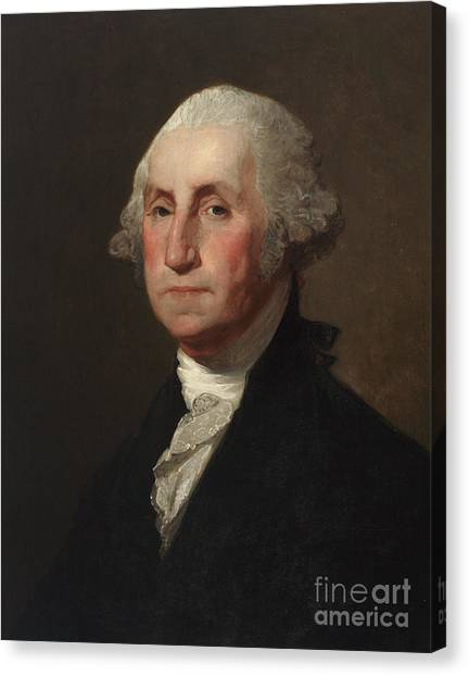 Stuart Canvas Print - George Washington by Gilbert Stuart