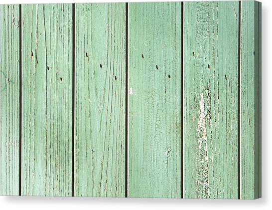 Architectural Detail Canvas Print - Green Wood by Tom Gowanlock
