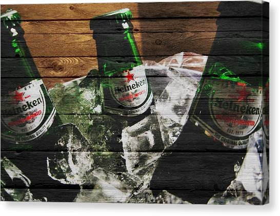 Beer Can Canvas Print - Heineken by Joe Hamilton