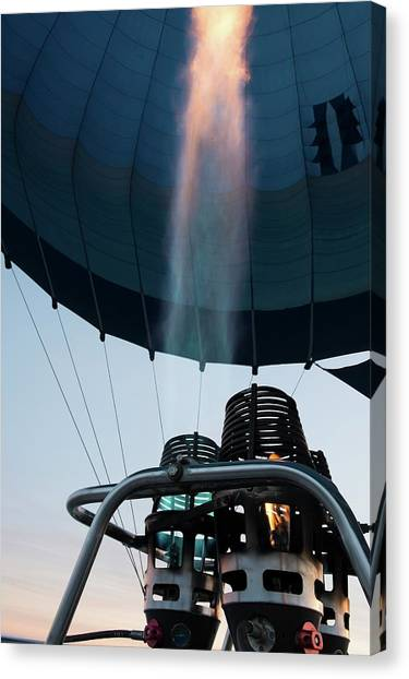 Motocross Canvas Print - Hot Air Balloon Gas Burner by Photostock-israel