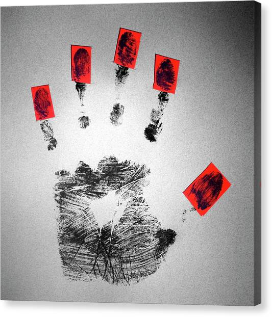 Big Brother Canvas Print - Identity Fraud by Kevin Curtis