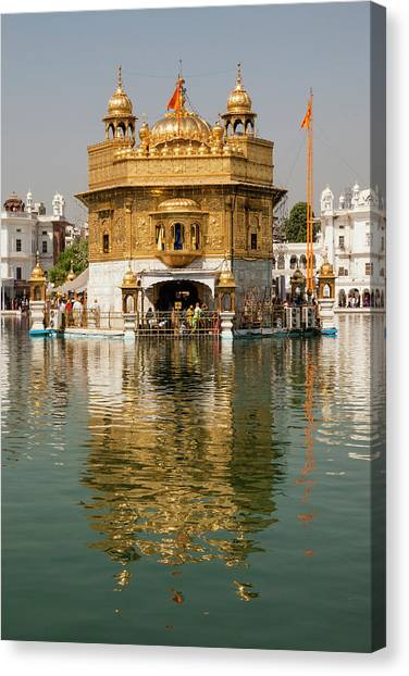 Golden Temple Canvas Print - India, Punjab, Amritsar by Alida Latham