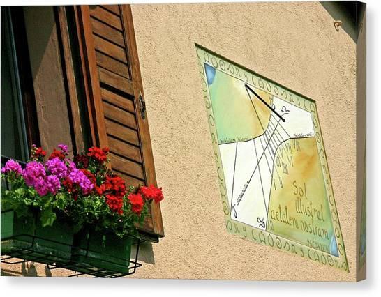 Italian Sundial Canvas Print by Babak Tafreshi/science Photo Library