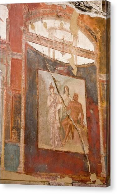 Mount Vesuvius Canvas Print - Italy, Campania, Herculaneum by Jaynes Gallery