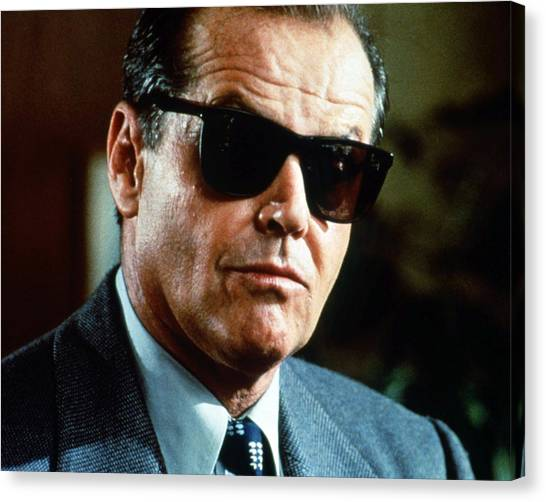 Jack Nicholson Canvas Print - Jack Nicholson by Silver Screen