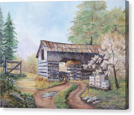 James Lewis Canvas Print - Barn At Cades Cove by Frances Lewis