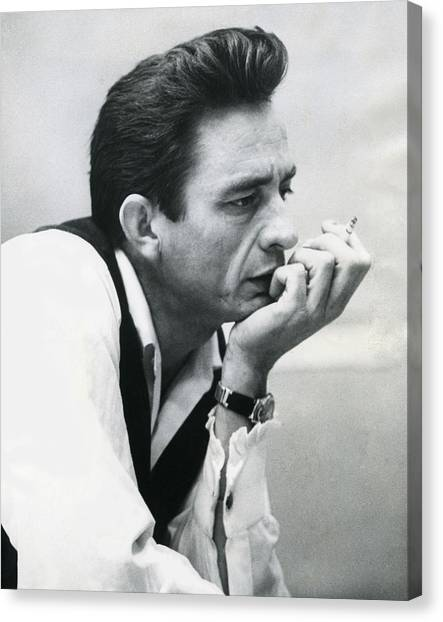 Music Canvas Print - Johnny Cash by Retro Images Archive