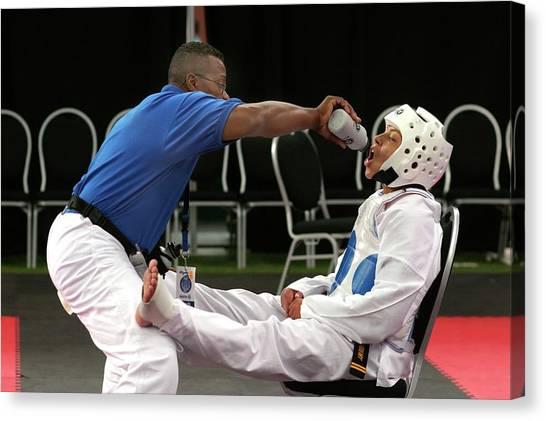 Taekwondo Canvas Print - Junior Olympics by Jim West