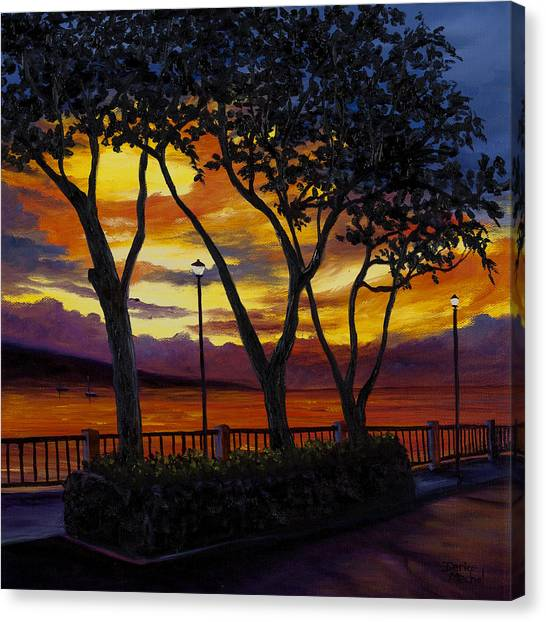 Tropical Sunset Canvas Print - Lahaina Sunset by Darice Machel McGuire