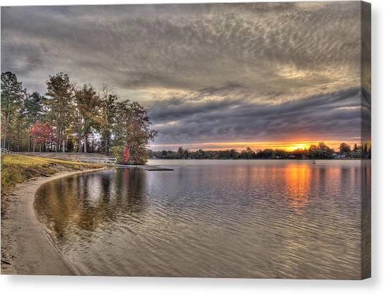 4 Lake Lenape W Sunrise6 Canvas Print