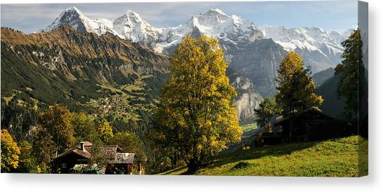 Lauterbrunnen Canvas Print - Lauterbrunnen Valley With Mt Eiger by Panoramic Images