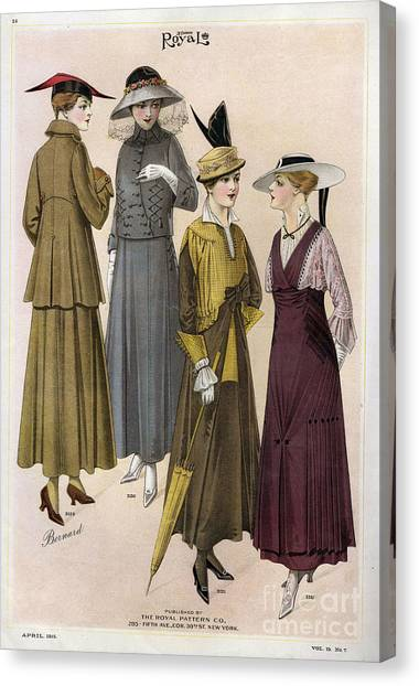 Le Costume Royal 1915 1910s Usa  Cc Canvas Print by The Advertising Archives