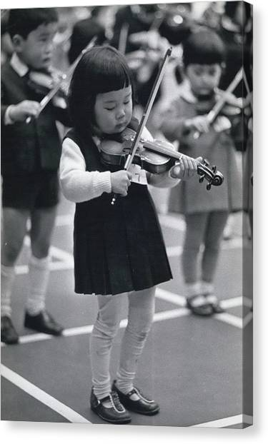 Little Fiddlers Make Big Music Canvas Print by Retro Images Archive