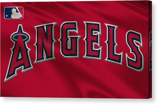 Los Angeles Angels Canvas Print - Los Angeles Angels Uniform by Joe Hamilton