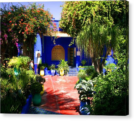 Majorelle Garden Marrakesh Morocco Canvas Print by PIXELS  XPOSED Ralph A Ledergerber Photography