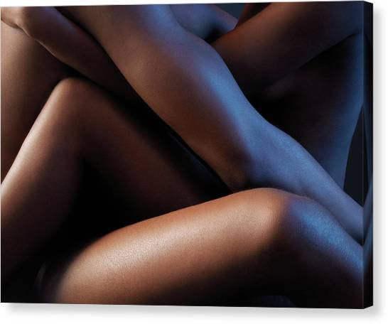 Passionate Canvas Print - Making Love by Kate Jacobs/science Photo Library