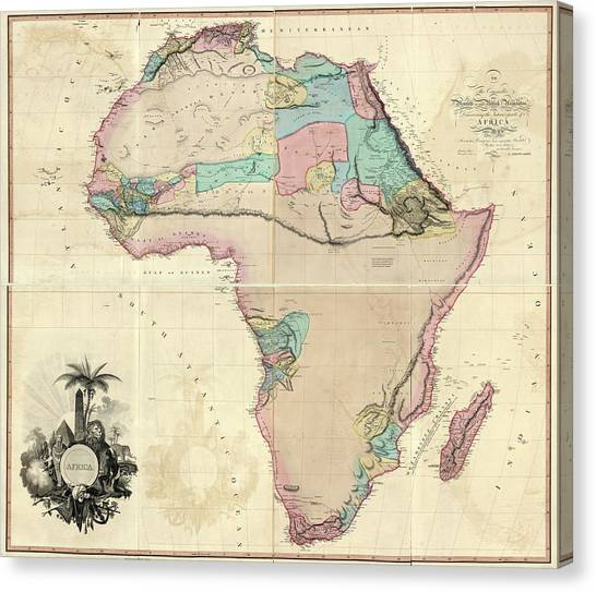 Congo River Canvas Print - Map Of Africa by Library Of Congress, Geography And Map Division