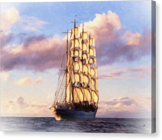 4 Mast Barque Canvas Print