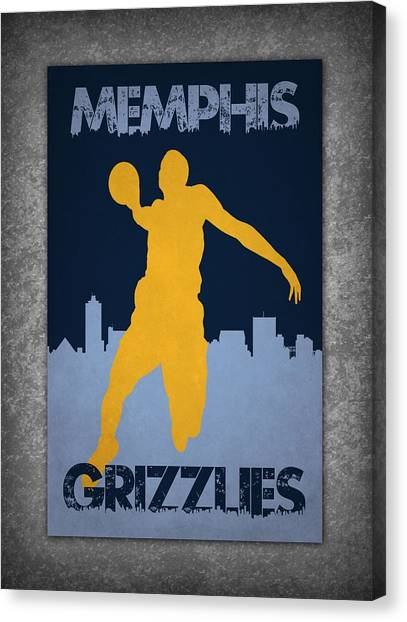 Memphis Grizzlies Canvas Print - Memphis Grizzlies by Joe Hamilton