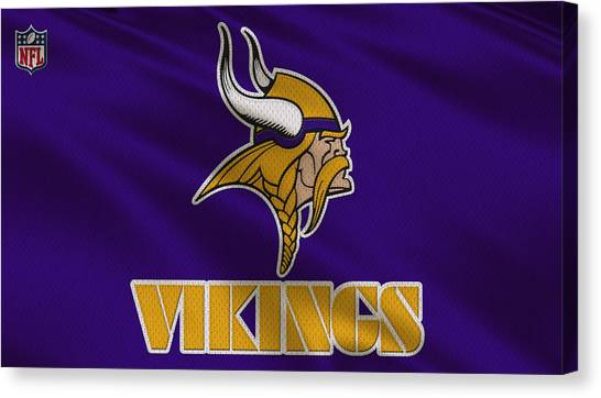 Minnesota Vikings Canvas Print - Minnesota Vikings Uniform by Joe Hamilton