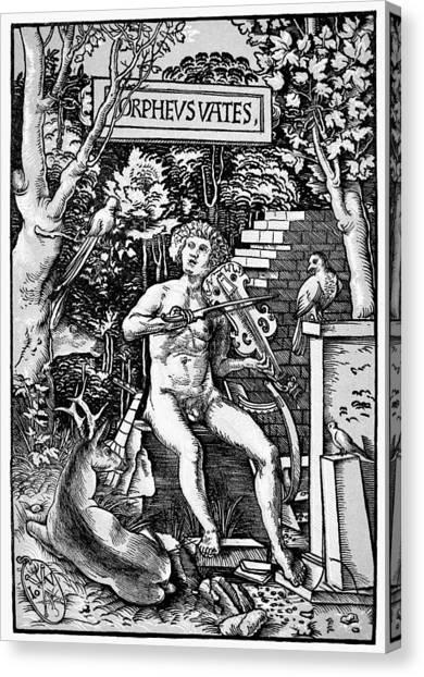 Mythology Orpheus Canvas Print by Granger